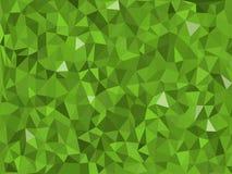 Djungel - grön triangulär modell - triangelmosaik Arkivfoton