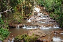 Djungel och vattenfall Arkivbild