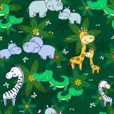 Djungel sömlös pattern-01 vektor illustrationer