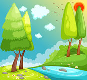 djungelliggande stock illustrationer