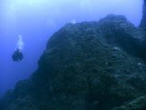 Djup dykning Arkivbild