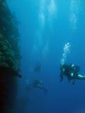 djup dykningextreme Royaltyfri Bild