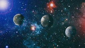 djup galaxavståndsspiral Beståndsdelar av denna avbildar möblerat av NASA royaltyfria bilder