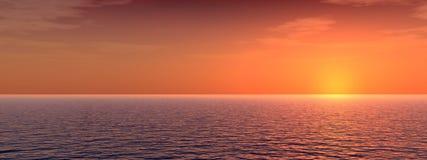 djup p-solnedgång Arkivbilder