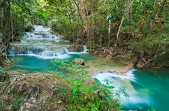 djup skogkanchanaburithailand vattenfall Royaltyfria Bilder