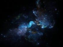 Djup spcaebakgrund med nebulosan och galaxer Royaltyfri Foto