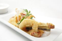 djup stekt skaldjur Royaltyfria Bilder