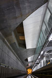 Djup tunnelbanatunnel Arkivbild