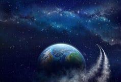 Djup utforskning av rymden royaltyfri illustrationer