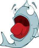 Djup-vatten fisk. Tecknad film Arkivbild