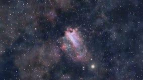 Djup zoom in i galaxen stock illustrationer