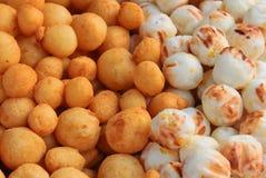 Djupa stekte potatisbollar Fotografering för Bildbyråer