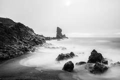Djupalonssandur plaża w Snaefellsjokull Zdjęcie Stock