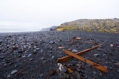 Djupalonssandur plaża w Snaefellsjokull Zdjęcia Stock