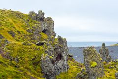 Djupalonssandur plaża w Snaefellsjokull Obraz Royalty Free