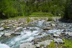 Djupblå Alpes Arkivbild