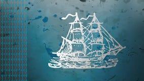 Djupblå segelbåt Arkivfoton
