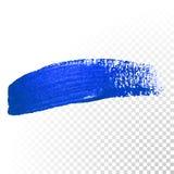 Djupblå slaglängd för vattenfärgborsteabstrakt begrepp Sudd för olje- målarfärg för vektor vektor illustrationer