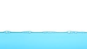 Djupblått vatten, bubblatexturbakgrund Arkivfoton