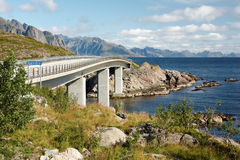 Djupfjord-Brücke Lizenzfreie Stockbilder