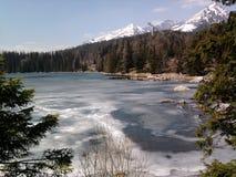 Djupfryst berg lake Arkivbilder