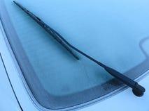 Djupfryst bilfönster Royaltyfri Fotografi