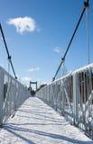Djupfryst bro Arkivbilder