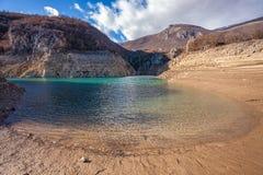 Djupfryst Busko sjö Arkivbild