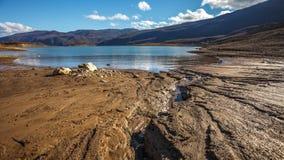 Djupfryst Busko sjö Royaltyfri Fotografi