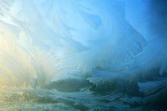 djupfryst fönster Arkivfoton