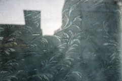 djupfryst fönster Arkivbilder