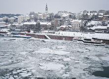 djupfryst flod Royaltyfri Fotografi