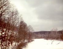 Djupfryst flod i Pennsylvania Fotografering för Bildbyråer