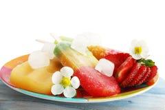 djupfryst fruktsaftjordgubbe Royaltyfria Foton