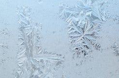 djupfryst glass fönster Arkivbild