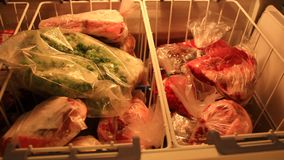 djupfryst grönsaker lager videofilmer