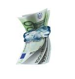 djupfryst hållande pengar Arkivbilder