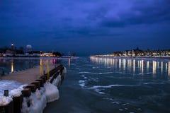 Djupfryst hamn Fotografering för Bildbyråer