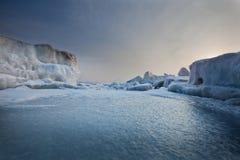 Djupfryst hav Royaltyfri Fotografi