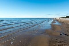 Djupfryst havsstrand Arkivfoto