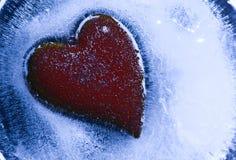 djupfryst hjärta Arkivbild
