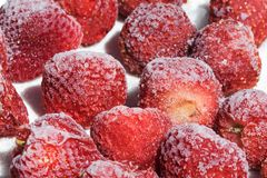 djupfryst jordgubbar Royaltyfri Bild