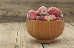 djupfryst jordgubbar Royaltyfri Fotografi