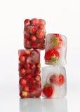 djupfryst jordgubbar Royaltyfria Bilder