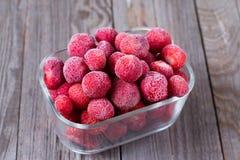djupfryst jordgubbar Fotografering för Bildbyråer