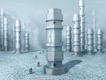 djupfryst landrobot vektor illustrationer