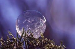 Djupfryst såpbubbla - nära övre Arkivfoton