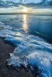 Djupfryst sjö Royaltyfria Bilder