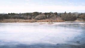 Djupfryst sjö, Minnesota arkivfoto