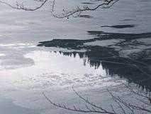 Djupfryst sjö och reflexioner 2 Royaltyfri Fotografi